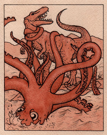 Giant Squid vs. T-Rex